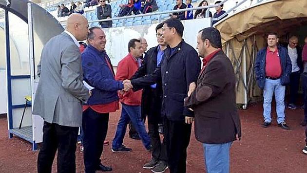 Xu Genbao, en el partido de La Hoya del domingo. Foto: Facebook La Hoya Lorca.