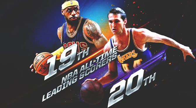 LeBron James se vuelve historia viva al superar al logo de la NBA, Jerry West