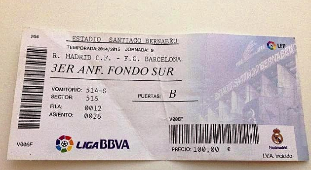 Real Madrid Entradas Futbol