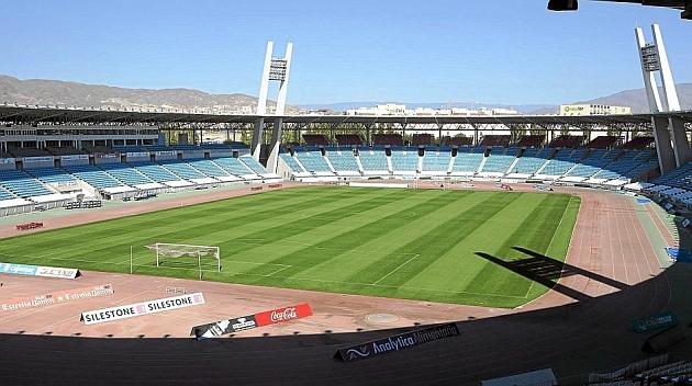 Imagen del estadio de los Juegos del Mediterráneo, de Almería, completamente vacío