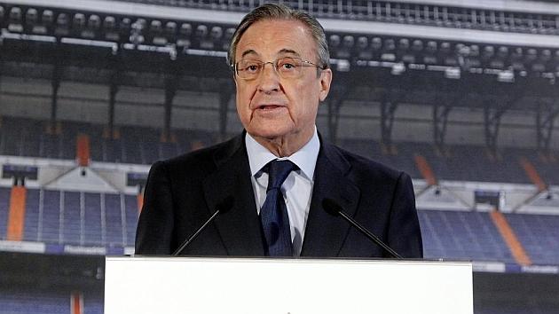Florentino Pérez, en una comparecencia pública.