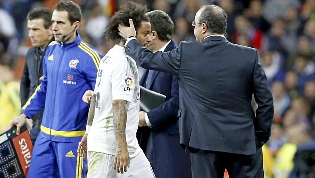 Marcelo fue sustituido en el Clásico por lesión.