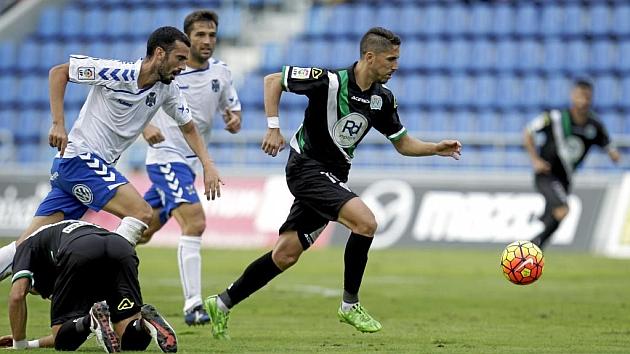 Ricardo, durante el duelo ante el Córdoba