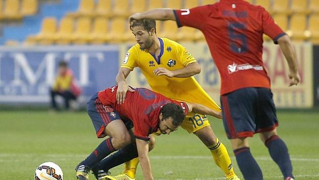 Antonio Martínez, durante el partido de la pasada temporada ante Osasuna en Santo Domingo
