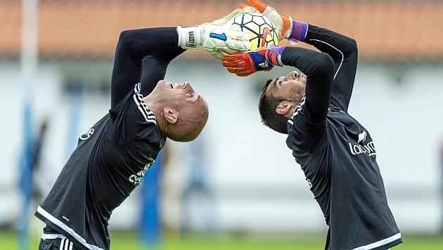 Mario Fernández y Nauzet Pérez, durante un ejercicio conjunto