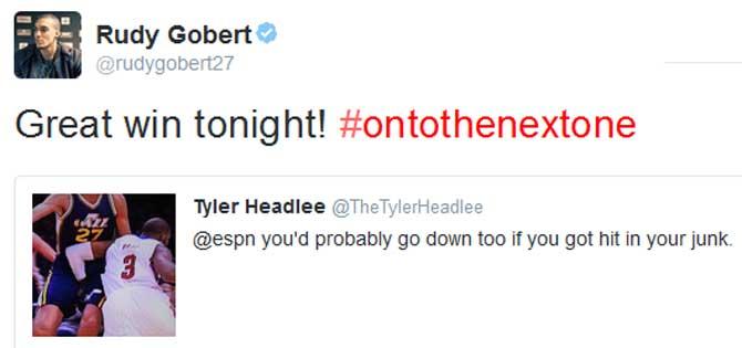 Gobert justifica ser la víctima nº1 del Top10: Tu también te caerías si te dan un codazo en tus partes
