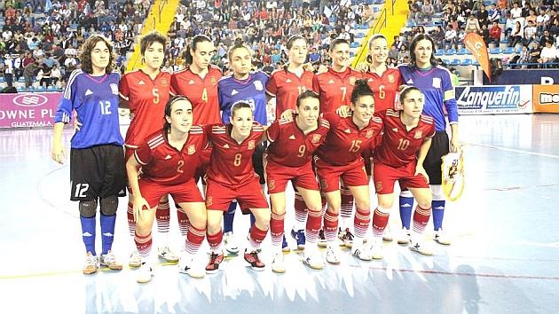 Jugadoras de la Selección Española de fútbol femenino