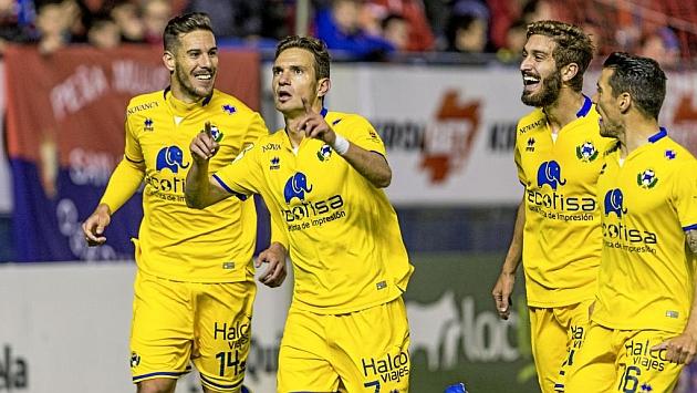 David Rodríguez celebra su gol ante Osasuna. Foto: Daniel Fernández (MARCA).