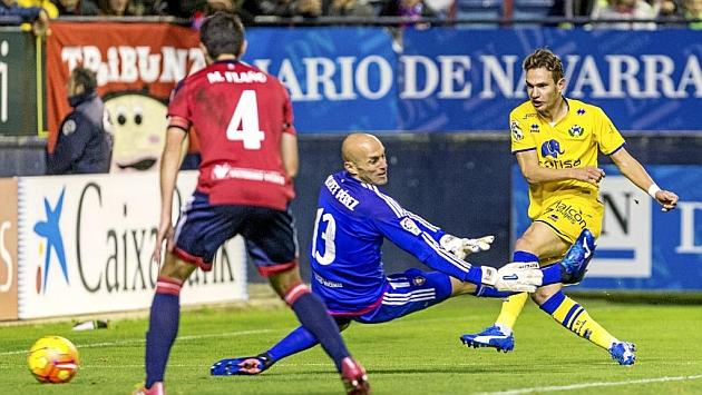 Nauzet no puede evitar el gol de David Rodríguez, primero del Alcorcón en El Sadar