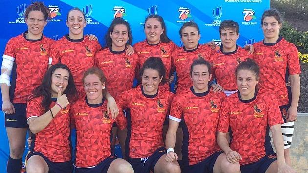 Una formación de este año de la selección olímpica española, las 'Leona7s' de José Antonio Barrio