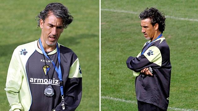 Oli (43) durante una sesión cuando era entrenador del Cádiz. Foto: Archivo MARCA
