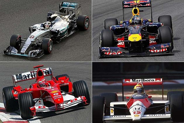 Mercedes logra la mayor paliza de la historia de la F1