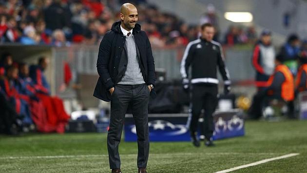 Pep Guardiola, durante un partido del Bayern de Múnich