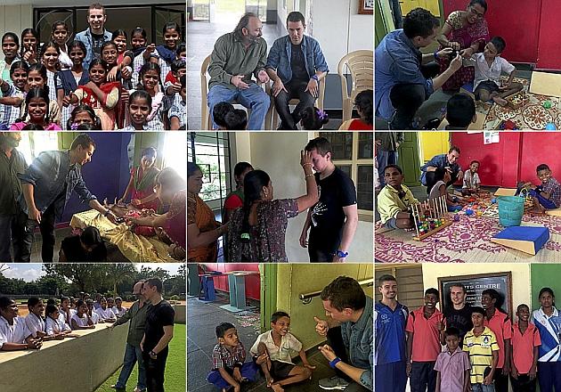 Jorge Lorenzo visita la Fundación Vicente Ferrer en la India