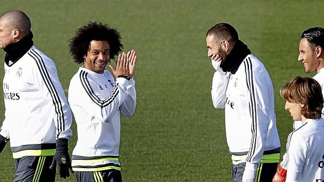 Marcelo durante un entrenamiento.