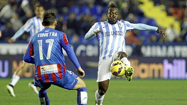 Imagen del encuentro entre Levante y Málaga de la pasada temporada. Foto: José Antonio Sanz (MARCA).