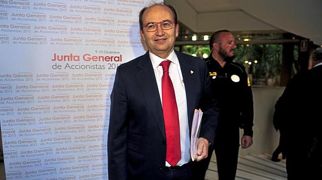José Castro, en la Junta General de Accionistas.