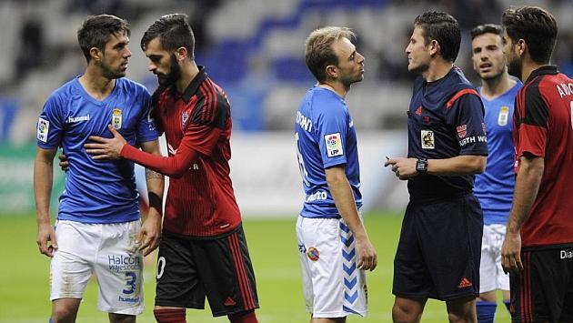 En el partido de Copa entre Oviedo y Mirandés hubo sus más y sus menos