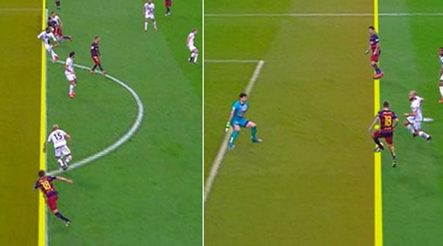 Un gol de Luis Suárez, mal anulado por fuera de juego
