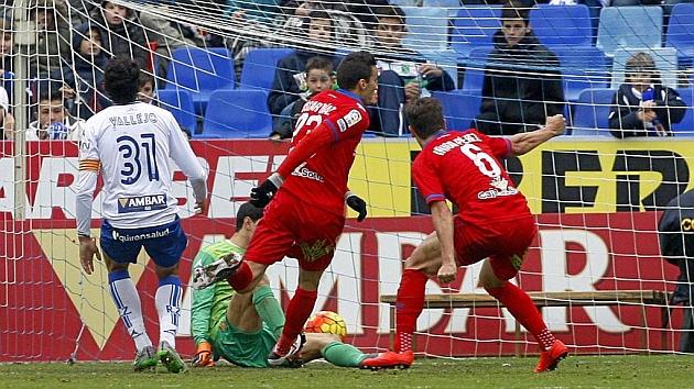 Óscar Díaz marca el gol del empate para el Numancia