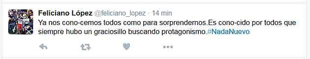 Feliciano 'atiza' a Piqué y le llama graciosillo que busca protagonismo