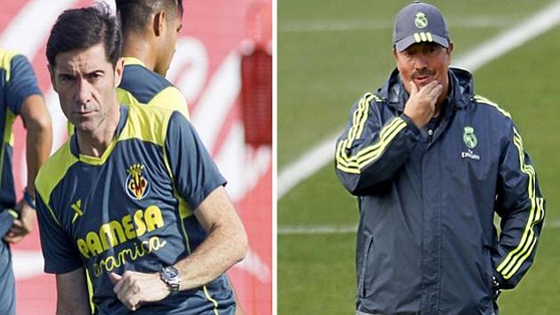 Marcelino y Rafa Benítez. Fotos: Carme Ripolles / José A. García (MARCA).