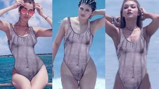 Las m�s sexys se unen a la moda del ba�ador peludo