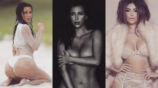 El desnudo integral de Kim Kardashian en un �rbol