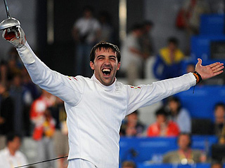 José Luis Abajo celebra el bronce (AFP)