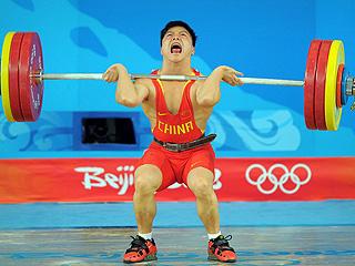 El chino Long, en la final de halterofilia (Foto: Reuters)