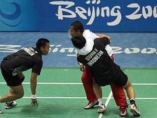 Los indonesios celebran el t�tulo (AFP)