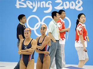 Mengual y Fuentes, durante una sesi�n de entrenamientos en Pek�n (Foto: Reuters)