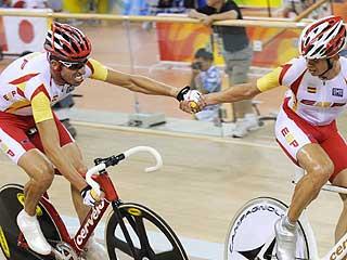 Llaneras y Tauler completaron el éxito español en Pekín (AFP)