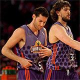 Rudy Fern�ndez y Marc Gasol