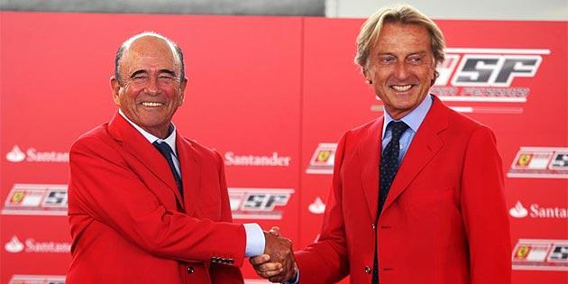 MARCA. Bot�n y Montezemolo ciierran el acuerdo del Santander y Ferrari