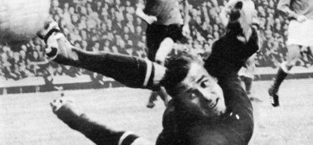 Lev Yashin, durante un partido.
