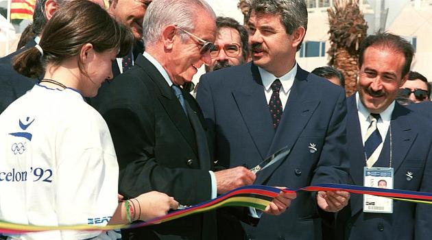 Samaranch, en la ceremonia de apertura de los Juegos Ol�mpicos de Barcelona'92 Foto: MARCA