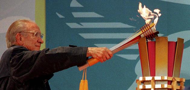 Samaranch enciende la llama ol�mpica de los Juegos Ol�mpicos de Nagano'98. Foto: MARCA
