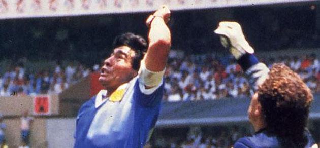 Mexico 1986 En Marca Com La Mano Y La Zurda De Dios