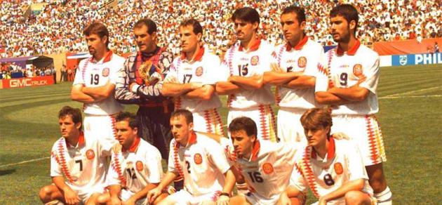 Once de la selección española en el partido ante Bolivia. FOTO: MARCA.