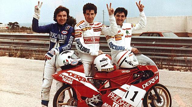 �ngel Nieto, Jorge Mart�nez Aspar y Manuel 'Champi' Herreros