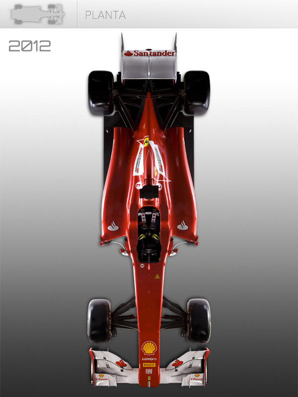 Vista cenital del Ferrari de 2012
