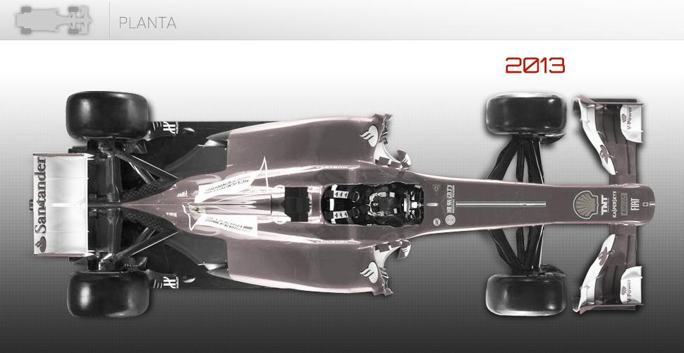 Vista cenital del Ferrari F138