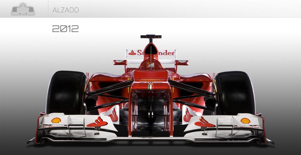 Vista frontal del Ferrari de 2012