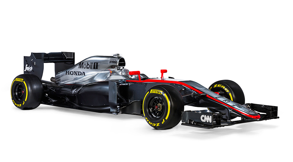 Vista en perspectiva del McLaren MP4-30 de 2015