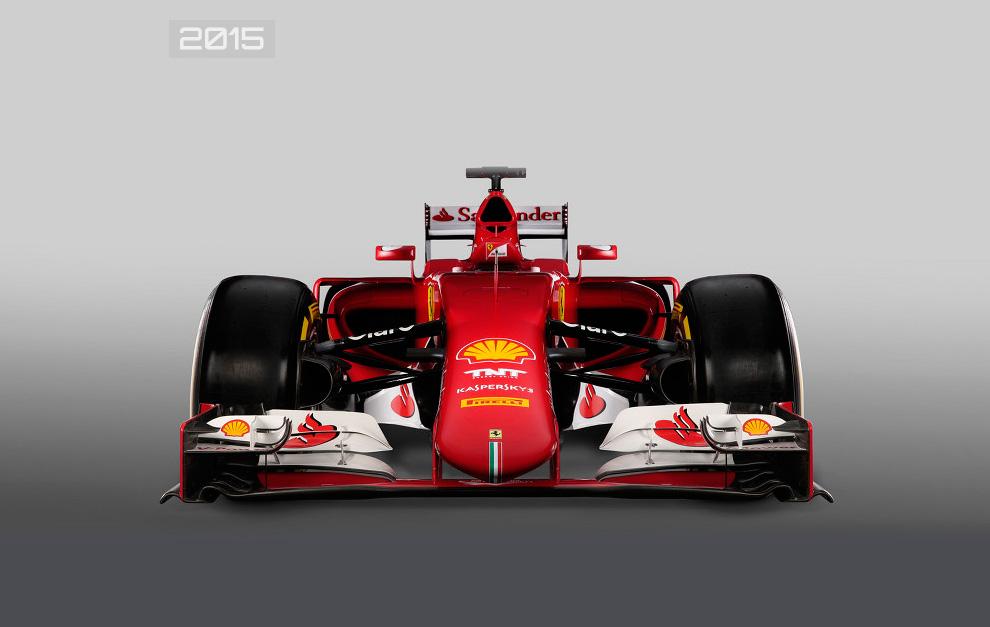 Vista de frente del Ferrari SF15-T de 2015