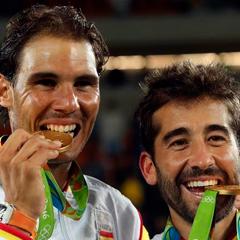 Marc López y Rafa Nadal