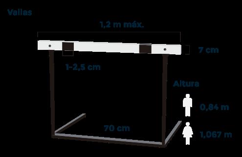 Atletismo: detalle de una valla