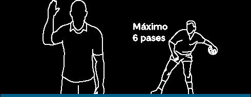 Nueva regla de los seis pasos en juego pasivo de balonmano