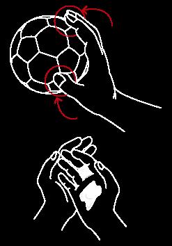Sujeción del balón de balonmano